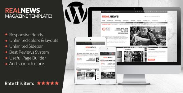 Realnews – Stylish and Responsive Magazine Theme