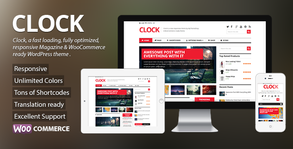 Clock – Magazine & WooCommerce Ready WP Theme
