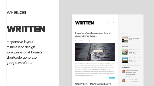 Written – Elegant Blogging Theme