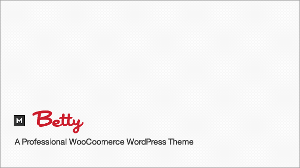 Betty WooCommerce WordPress Theme