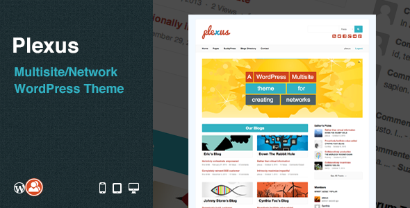 Plexus: Multisite/Network WordPress Theme