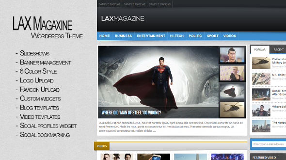 Lax Magazine – WordPress Theme