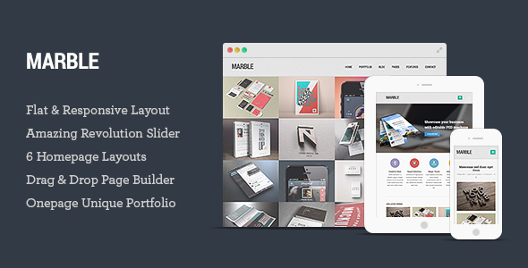 Marble – Flat Responsive Creative WordPress Theme