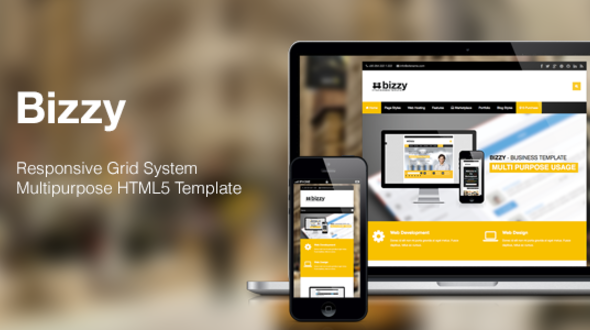 Bizzy – Responsive Business HTML5 Template