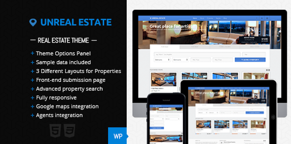 Unreal Estate – Real Estate WordPress Theme