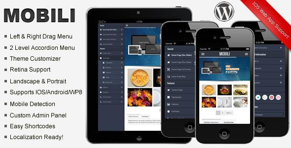 Mobili Premium WordPress Mobile Theme