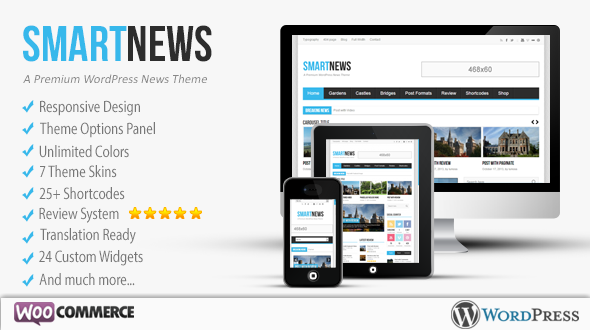 SmartNews – Responsive News, Magazine and Blog WordPress Theme