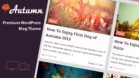 Autumn – Responsive WordPress Blog Theme