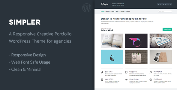Simpler – A Clean Portfolio WordPress Theme
