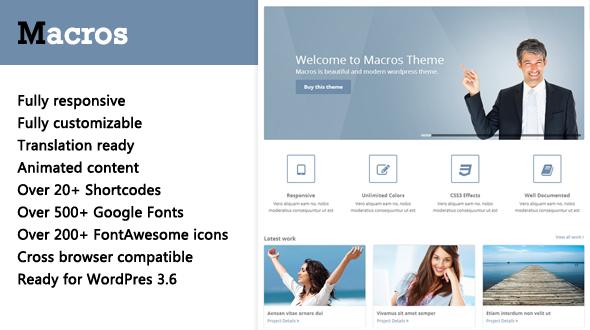 Macros – Responsive Multipurpose WordPress Theme