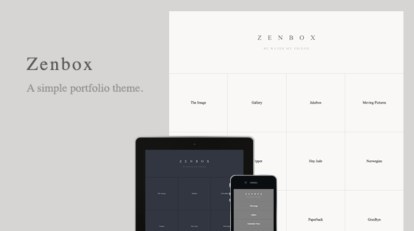 Zenbox – Simple Portfolio WordPress Theme