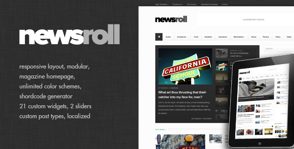 Newsroll – Modular and Responsive Magazine Theme