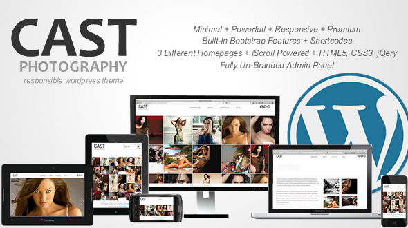 Cast Premium Responsive Photography WordPress Theme