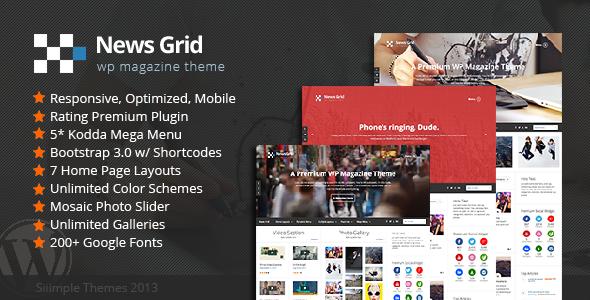News Grid – WP Magazine Theme