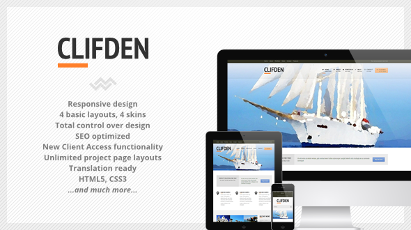 Clifden – Responsive Business WordPress Theme