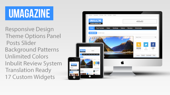 UMagazine – Responsive Magazine WordPress Theme