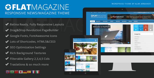FlatMagazine – Responsive News/Magazine Theme