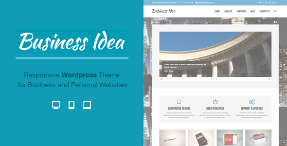 Business Idea – Multi-Purpose Responsive Theme