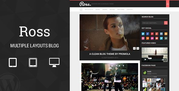 Ross – Multiple Layouts Blog