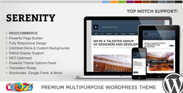 WP Serenity Responsive Multipurpose Theme