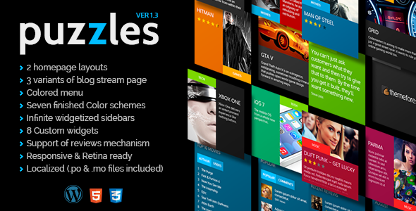 Puzzles   WordPress Magazine/Review Theme
