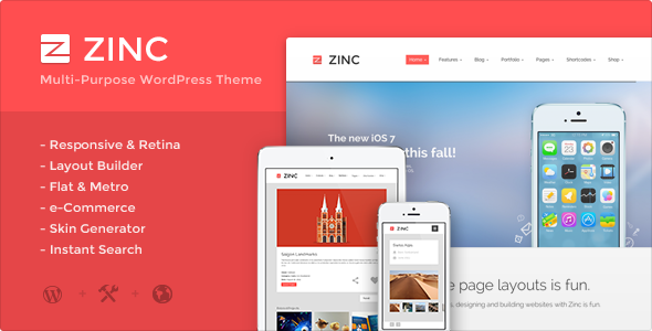 Zinc – Multi-purpose WordPress Theme