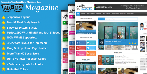 Adams – Responsive WordPress News, Magazine, Blog
