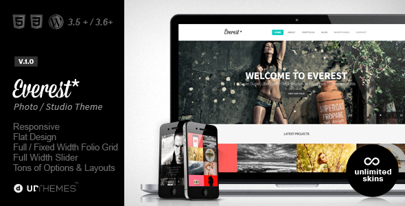 Everest | Responsive Portfolio WordPress Theme