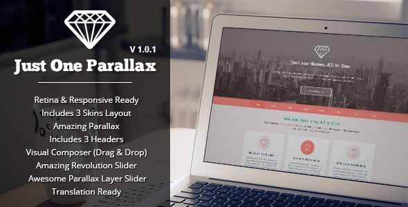 Just One – Responsive Parallax WordPress Theme