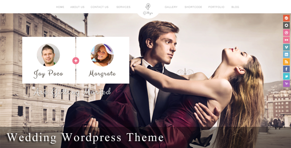 Gittys – Responsive Wedding WordPress Theme