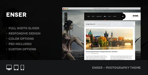 Enser – Photography Retina WordPress Theme