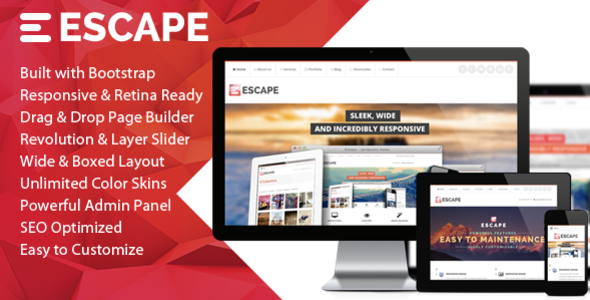 Escape – Retina Responsive Multi-Purpose WP Theme