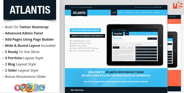 Atlantis Bootstrap Multipurpose WordPress Theme