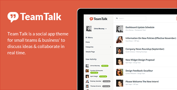 Team Talk – A Real Time Collaboration Theme