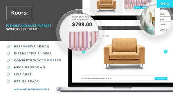 Koorsi Furniture Flat Woocommerce theme