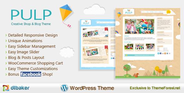 Pulp – Responsive Creative Blog & Shop