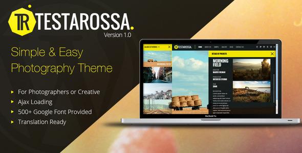 Testarossa – Simple Photography Ajax WP Theme
