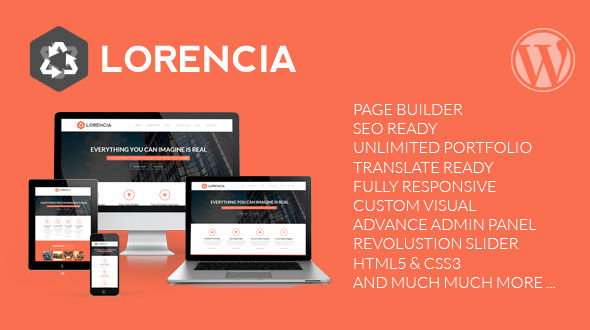 Lorencia – Flat WordPress Theme