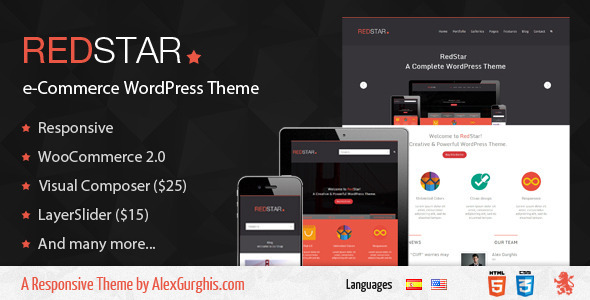RedStar – e-Commerce WordPress Theme
