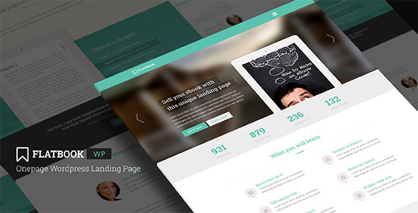 FlatBook – Onepage WordPress Landing Page