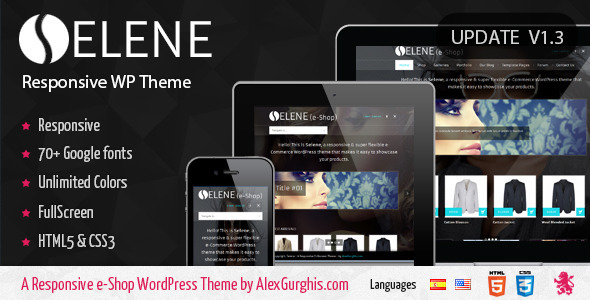 Selene – Fullscreen Premium WordPress Theme