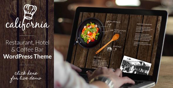 California – Restaurant Hotel Bar WordPress Theme