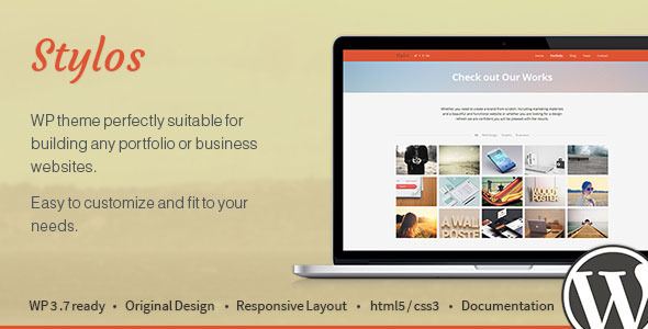 Stylos – One Page Responsive WordPress Theme