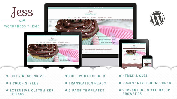 Jess – Elegant Responsive WordPress Theme