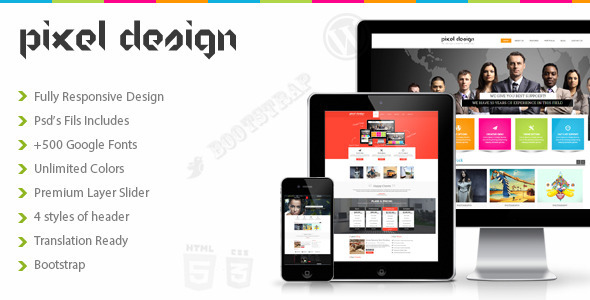 Pixel Design Multipurpose Theme