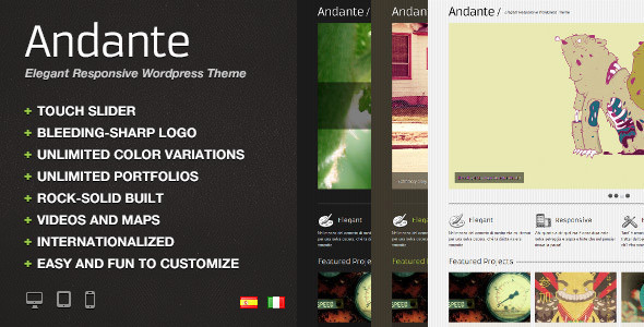 Andante WP – Elegant Responsive WordPress Theme