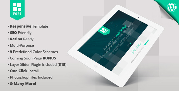 Fore WP – responsive retina-ready one-page theme