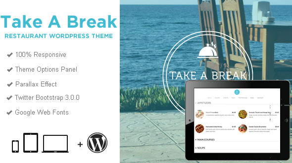 Take a Break – Restaurant One Page WordPress Theme