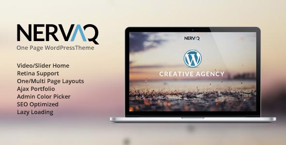 Nervaq – Responsive One Page WordPress Theme
