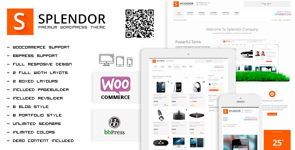 Splendor – Premium Corporate & eCommerce WP Theme